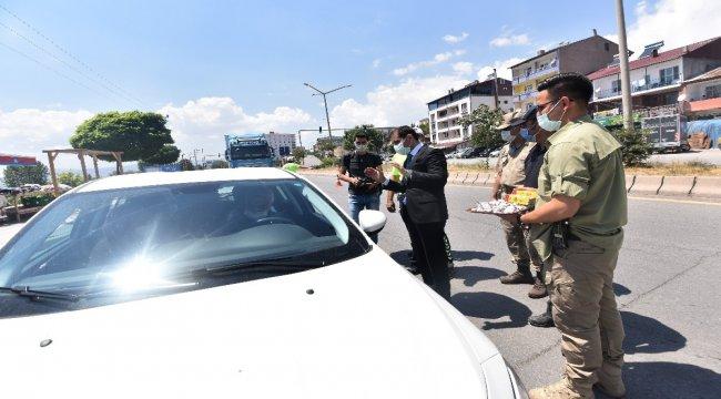 Kaymakam Erat, sürücülerin ve yolcuların bayramını kutladı