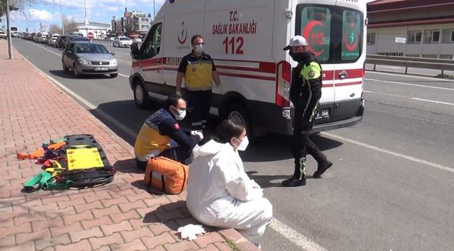 Vakaya giden ambulansa çarptı, ilk müdahaleyi çarptığı 112 görevlileri yaptı