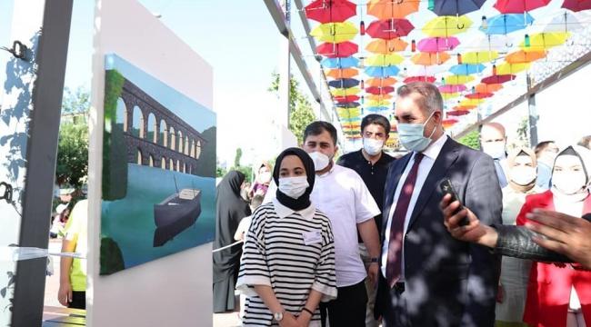 Geleceğin sanatçıları Sultanşehir Resim Sergisi'nde hünerlerini sergiledi