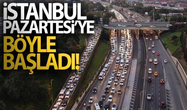 İstanbul'da haftanın ilk iş gününde trafik yoğunluğu erken başladı!