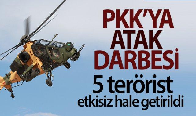Pençe-Şimşek operasyonu bölgesinde 5 PKK'lı terörist etkisiz hale getirildi!
