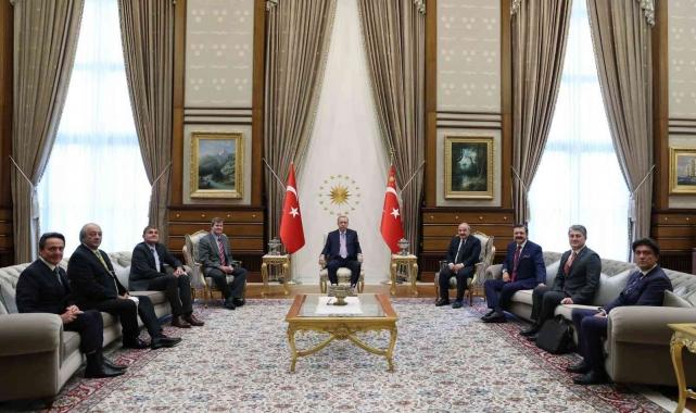 Cumhurbaşkanı Erdoğan, Farasis Energy CEO'Su Dr Keith Kepler'i kabul etti
