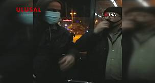 İETT otobüsünde maske tartışması kamerada